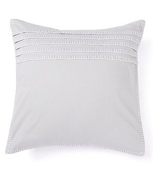 Barbara Barry Ascot Blanket Stitch Embroidered Square Pillow