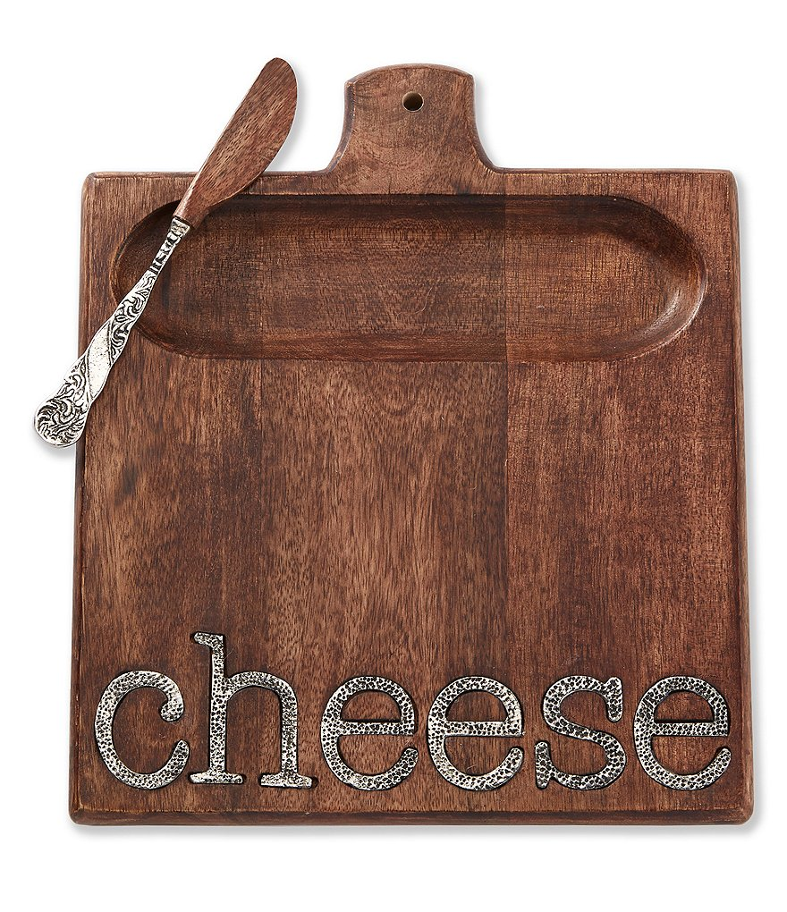 Mud Pie Circa Collection Mango Wood Cheese Serving Set