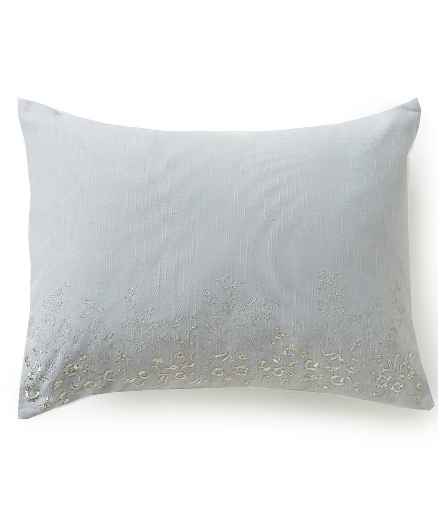 Barbara Barry Clover Metallic Embroidered PIllow
