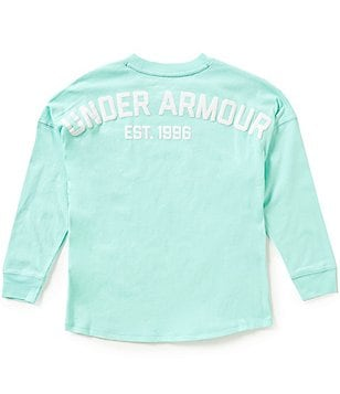 Under Armour Big Girls 7-16 Varsity Long-Sleeve Crewneck Tee