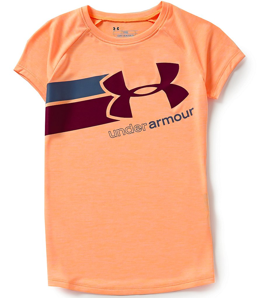 Under Armour Big Girls 7-16 Fast Lane Short-Sleeve Graphic Tee