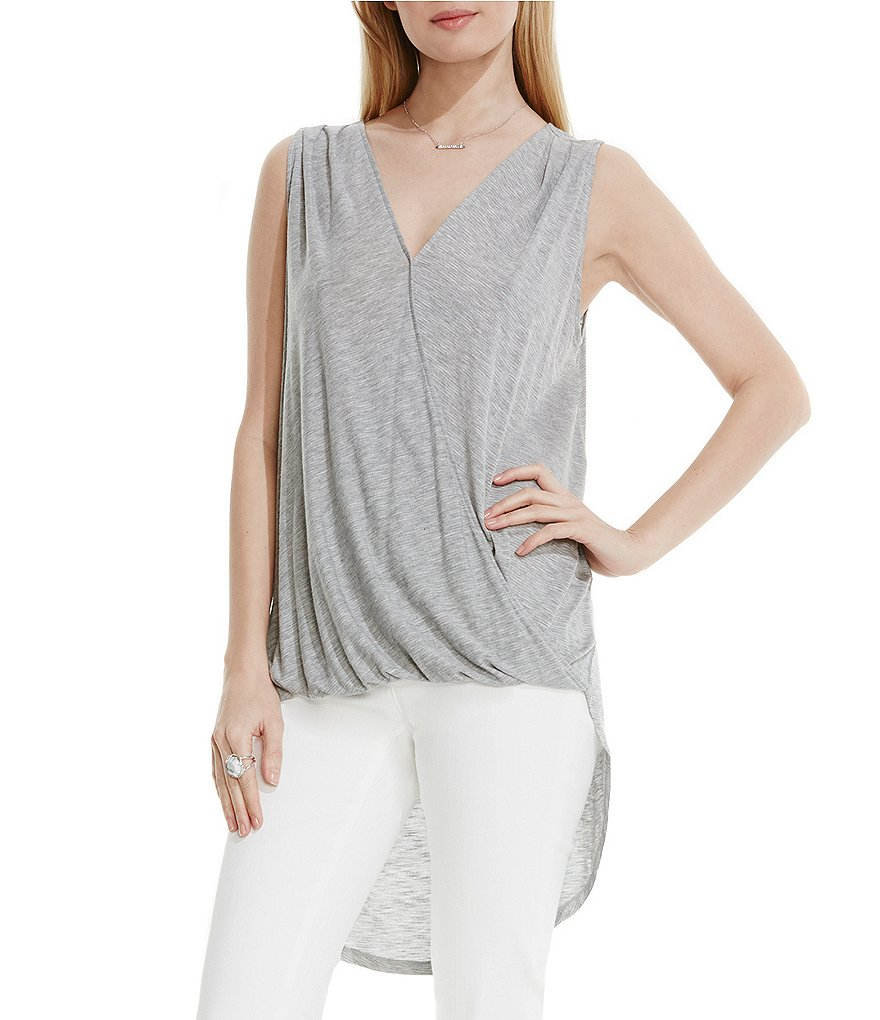 Two by Vince Camuto Front Twist Wrap Tank