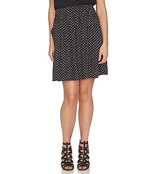CeCe Disco Dots Printed Skirt
