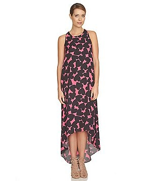 CeCe Playful Hearts High Low Maxi Dress