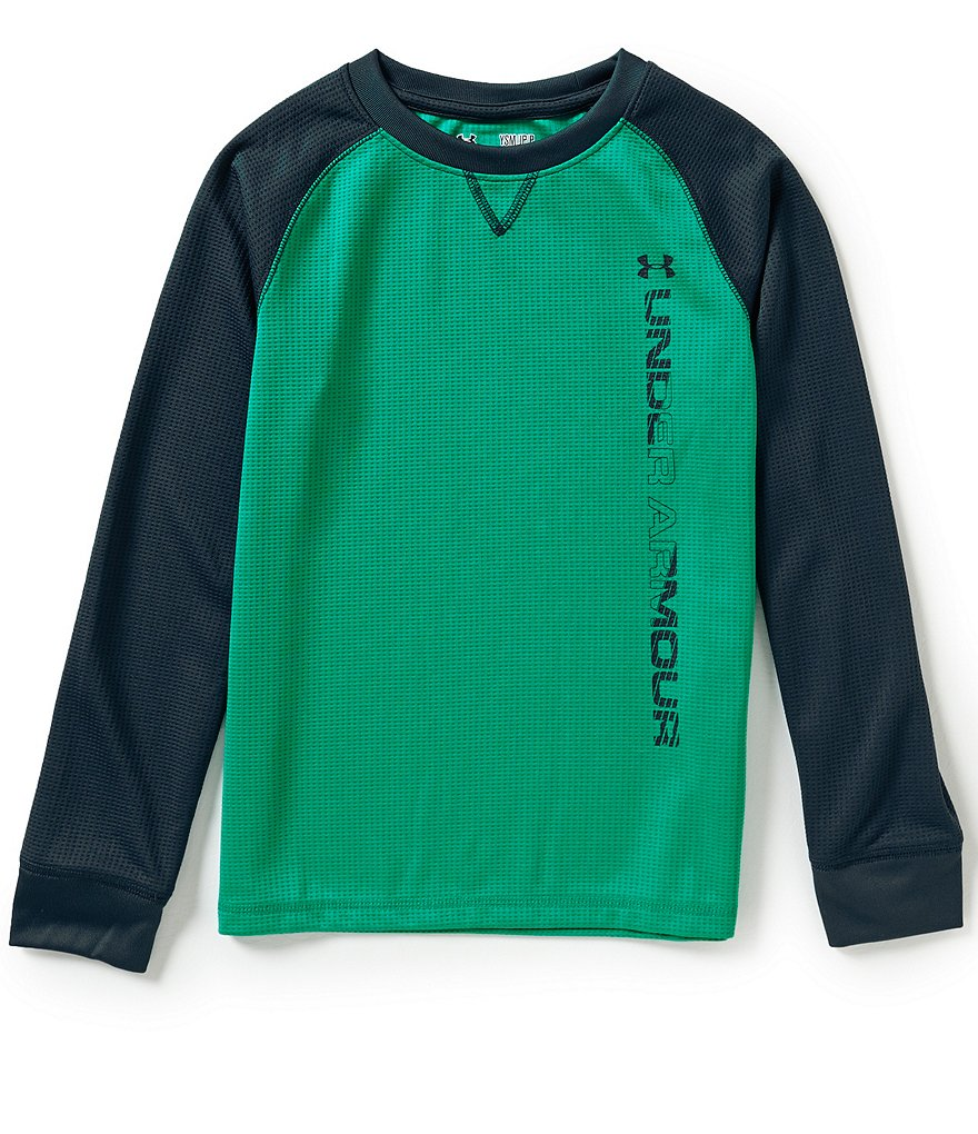 Under Armour Big Boys 8-20 Waffle-Textured Crewneck Tee