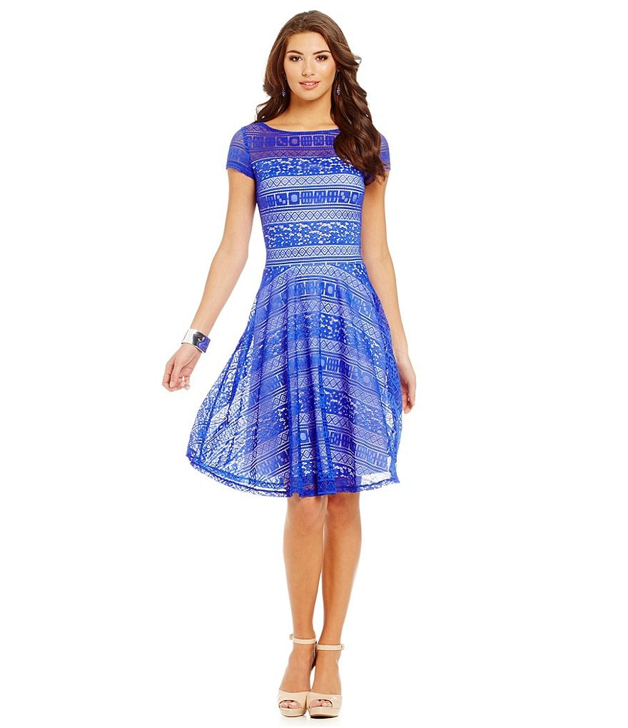 Sangria Illusion Lace Midi Dress