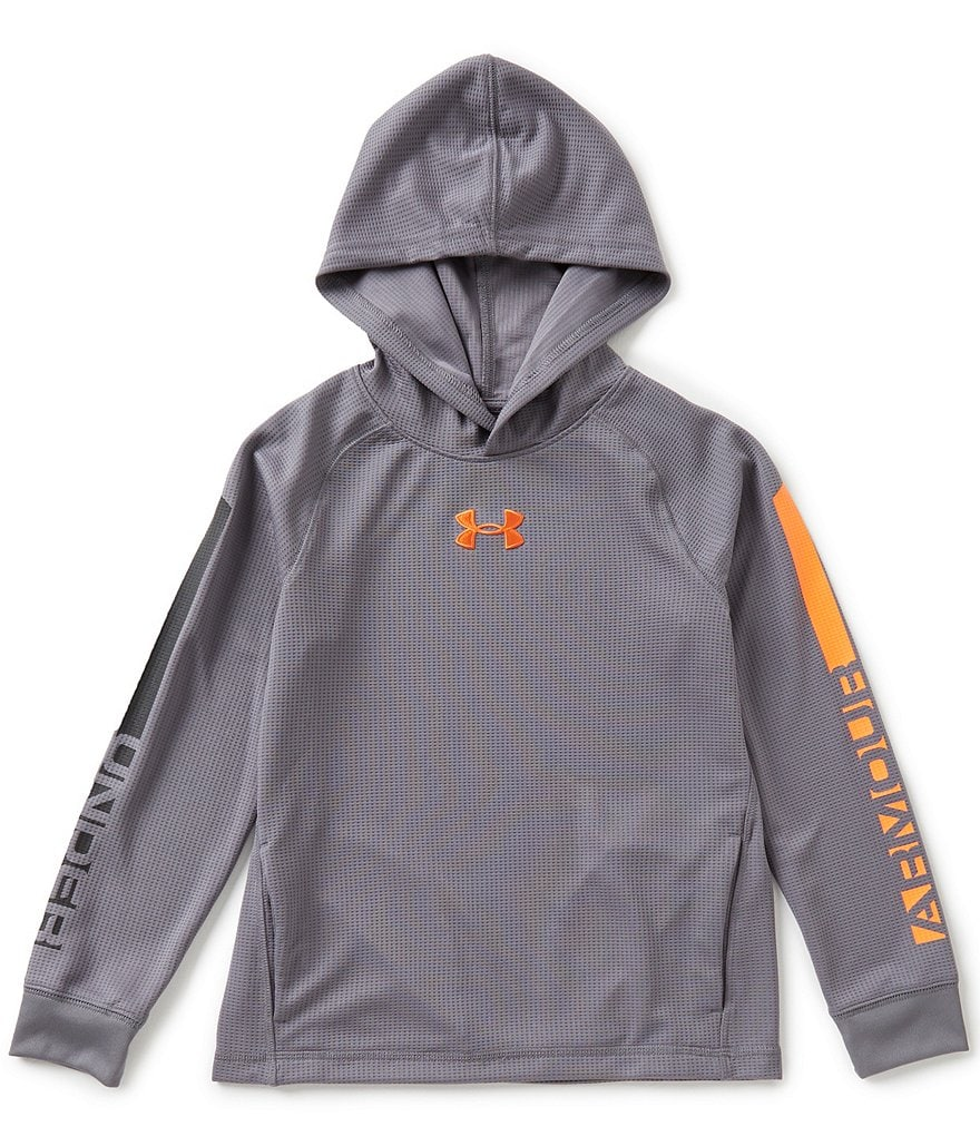 Under Armour Big Boys 8-20 Waffle-Textured Hoodie