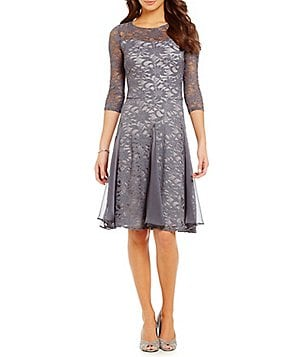Sangria Metallic Lace Midi Dress
