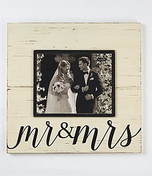 mud pie wedding collection mr mrs deluxe frame