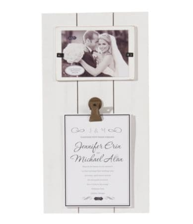 Wedding Gift Check Bounced : Mud Pie Wedding Collection Invitation Clip Frame Dillards
