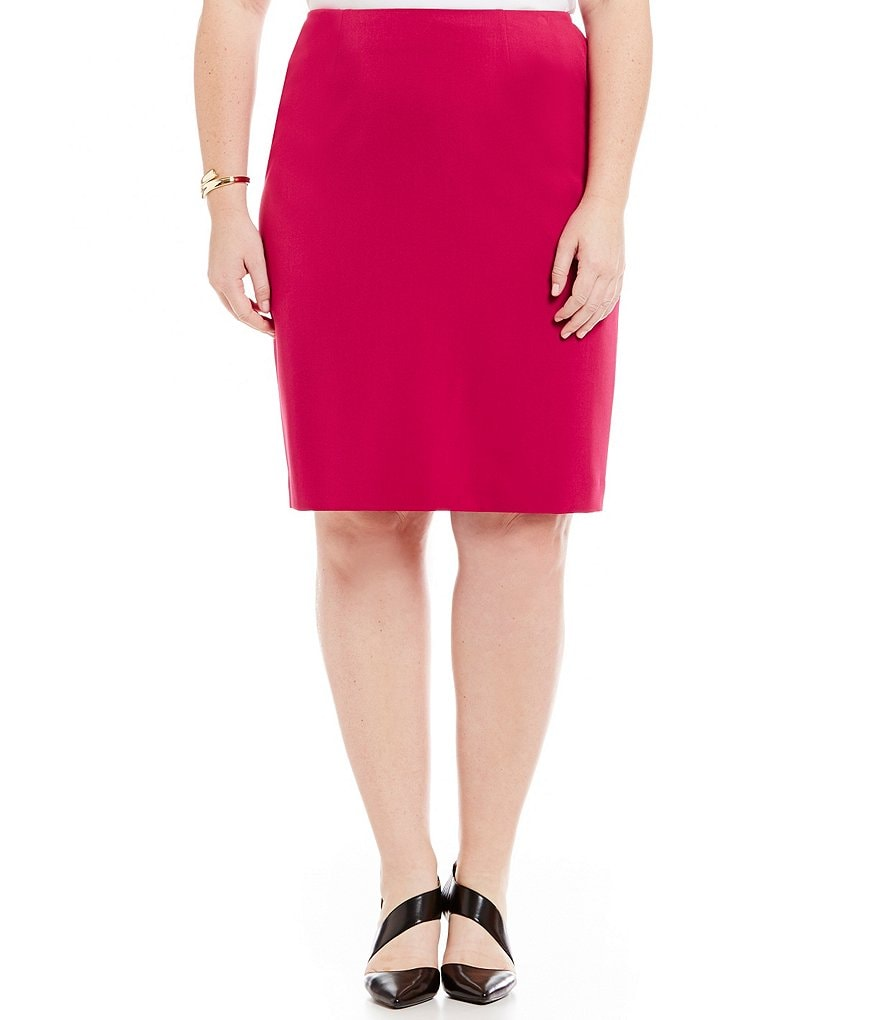 Kasper Plus Stretch Crepe Skirt