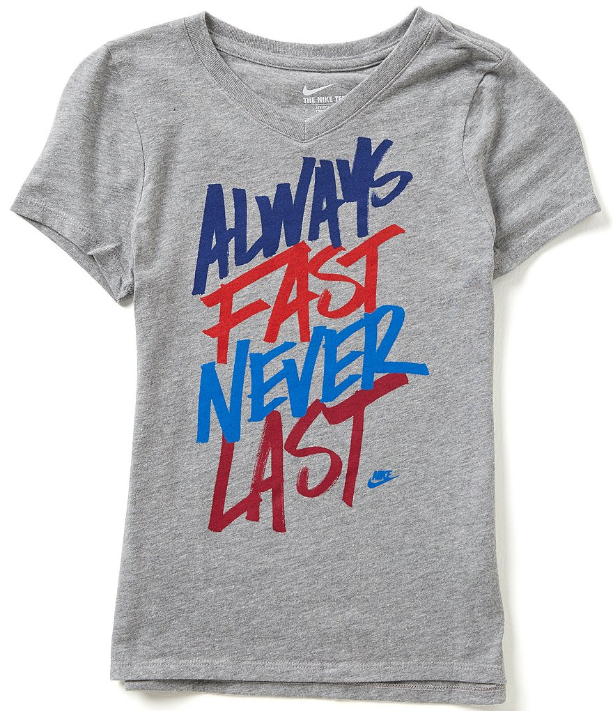 Nike Big Girls 7-16 Always Fast Never Last Short-Sleeve Graphic Tee