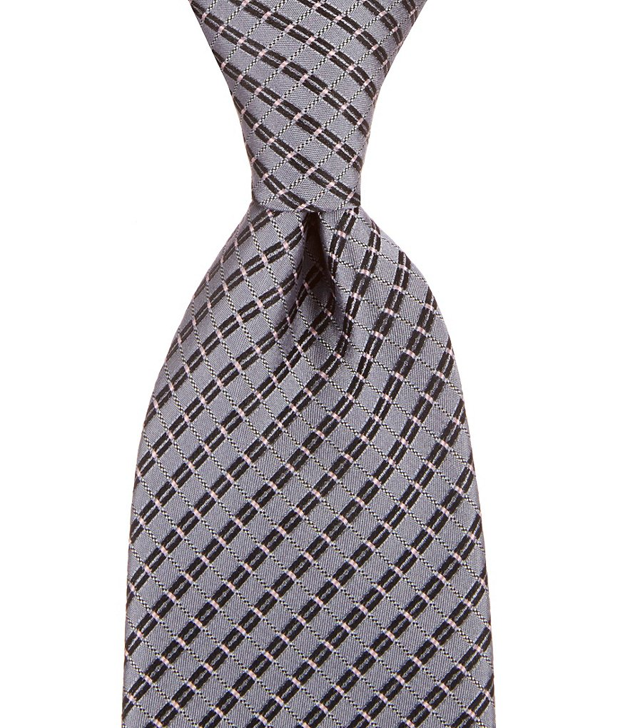 Murano Big & Tall Cell Block Silk Tie
