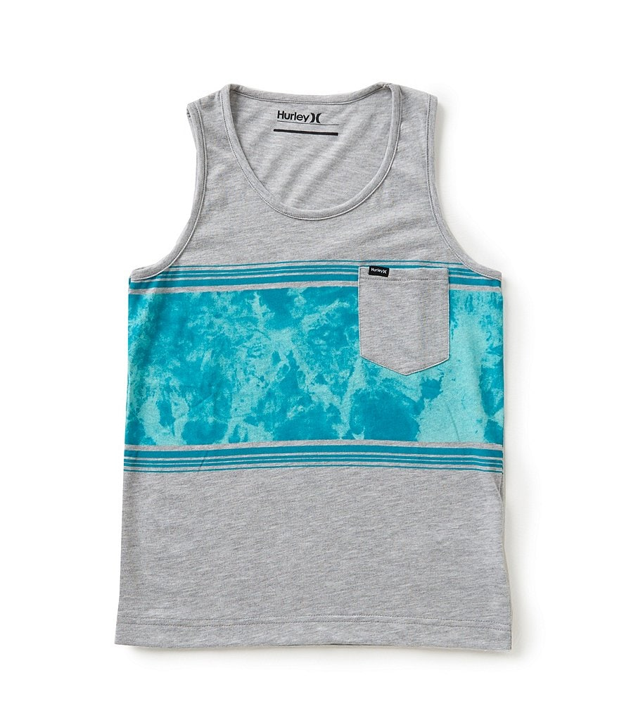 Hurley Big Boys 8-20 Tri-Blocked Printed Tank Top