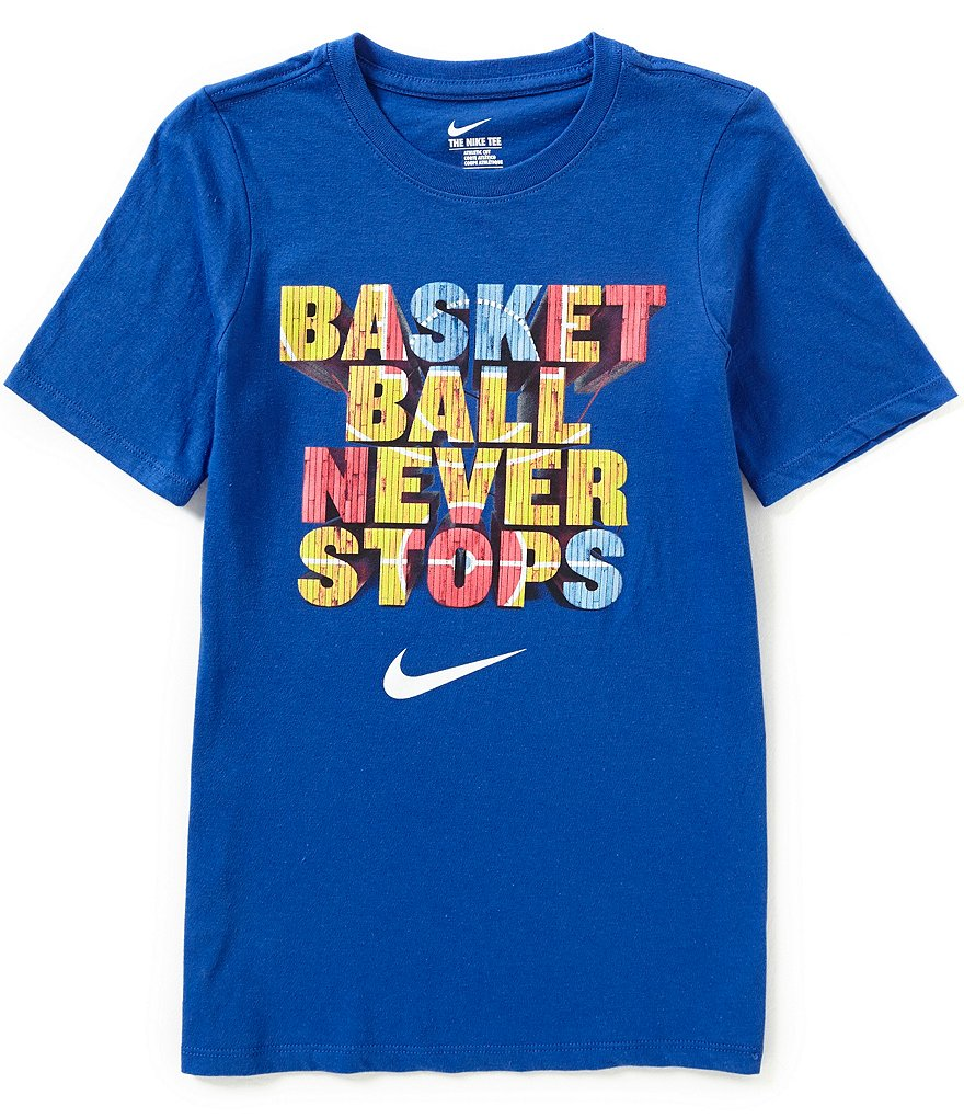 Nike Big Boys 8-20 Basketball Never Stops Graphic Tee