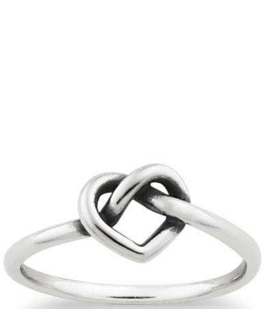 james avery delicate heart knot ring dillards - James Avery Wedding Rings