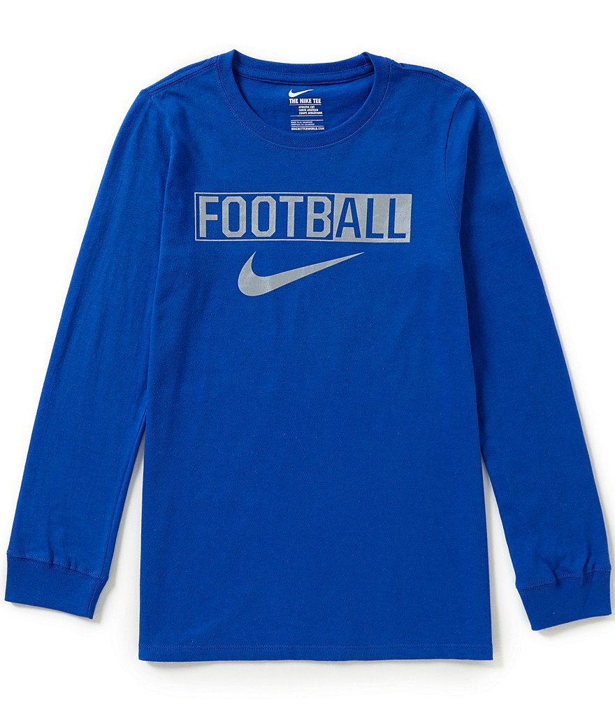 Nike Big Boys 8-20 Football Long-Sleeve Tee