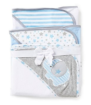 Starting Out 3-Pack Hooded Bath Towel Set