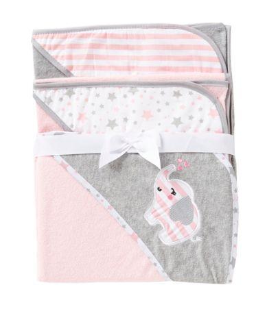 Starting Out 3 Pack Elephant Hooded Bath Towel Set Dillards