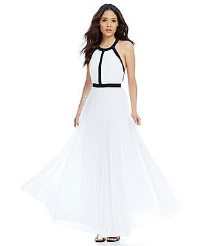 Nicole Miller Collection Gladiator Halter-Neck Gown