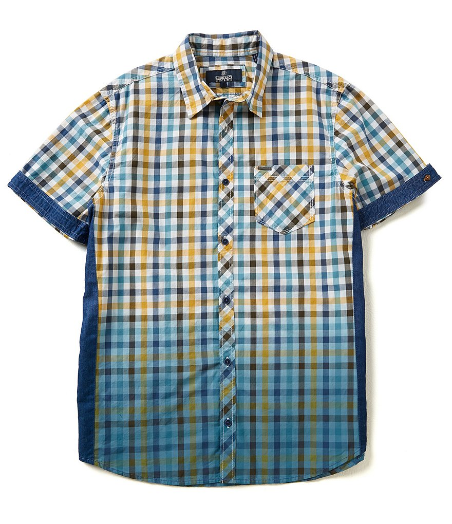 Buffalo David Bitton ´Sakirn´ Spread Collar Multi-Check Print Shirt