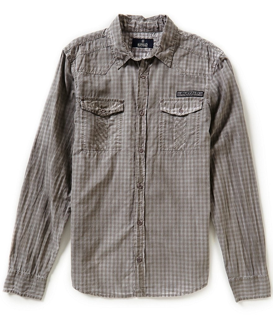Buffalo David Bitton Long-Sleeve Gingham Sportshirt