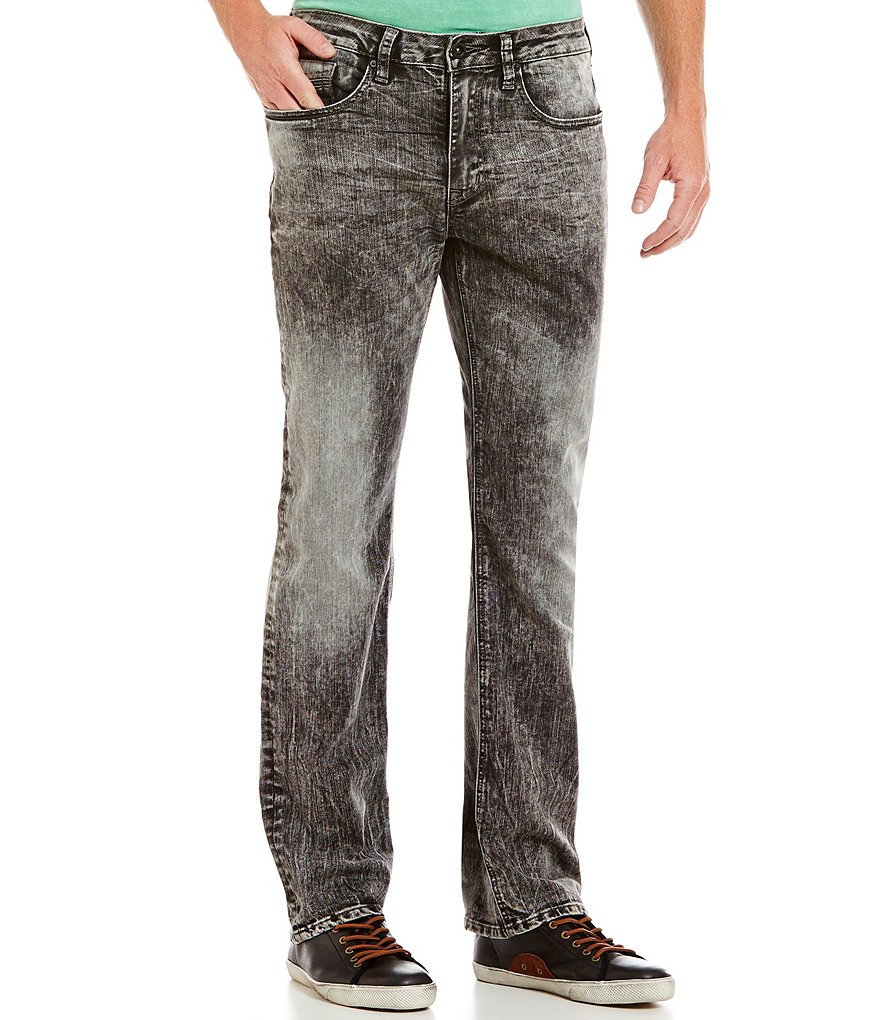 Buffalo David Bitton Driven X Straight Leg Marble Wash Denim Jeans