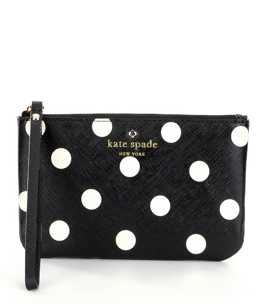 kate spade new york Cedar Street Bee Dotted Wristlet