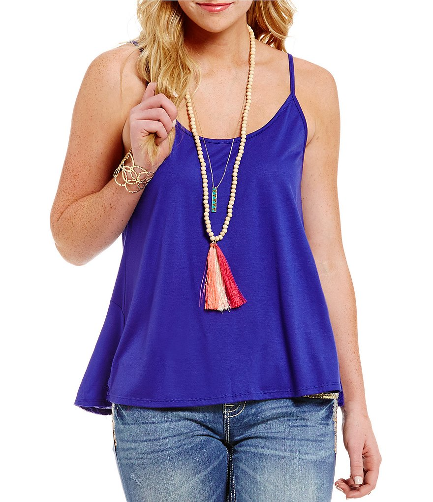 Miss Me Cross-Back Cami Top