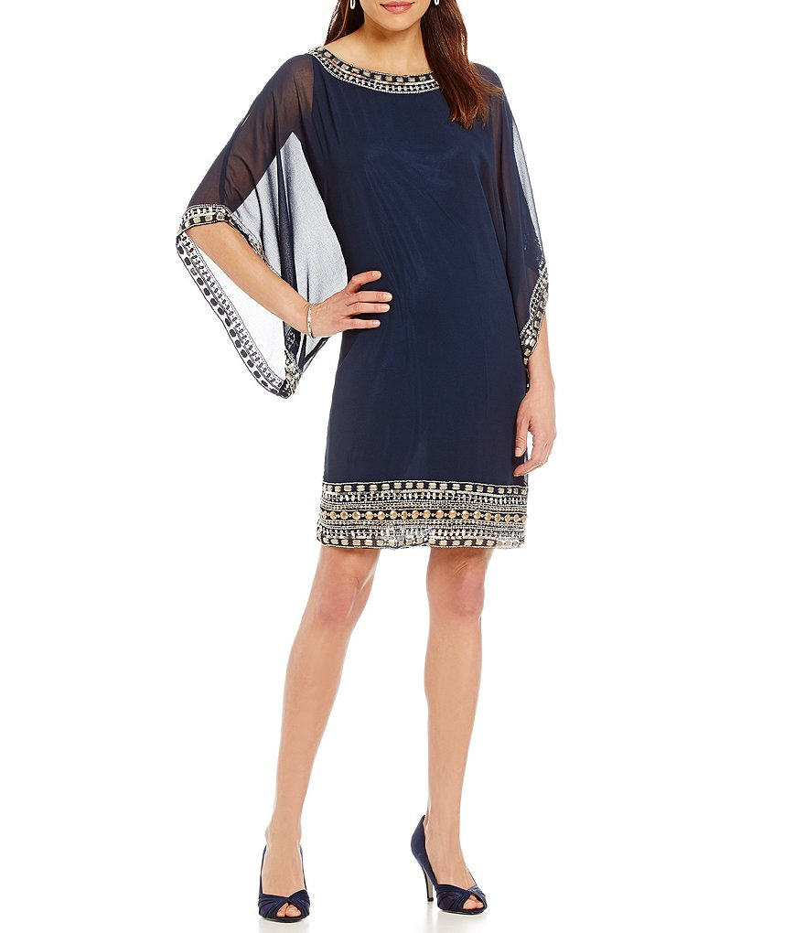 Jkara Beaded Sheath Dress