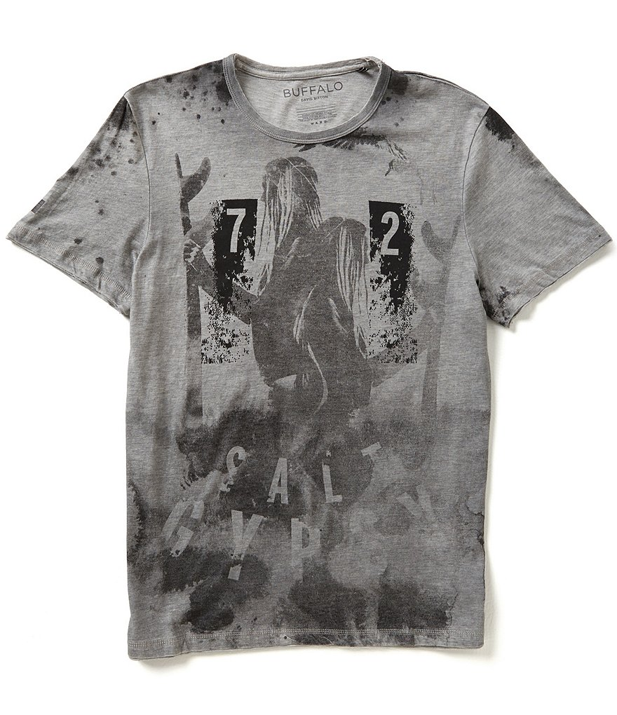 Buffalo David Bitton Nacar Short-Sleeve Crewneck Graphic Tee