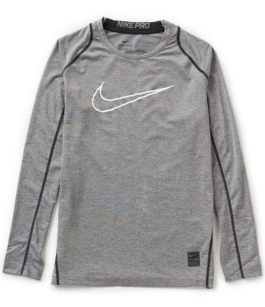 Nike Big Boys 8-20 Hypercool Fitted Long-Sleeve Tee