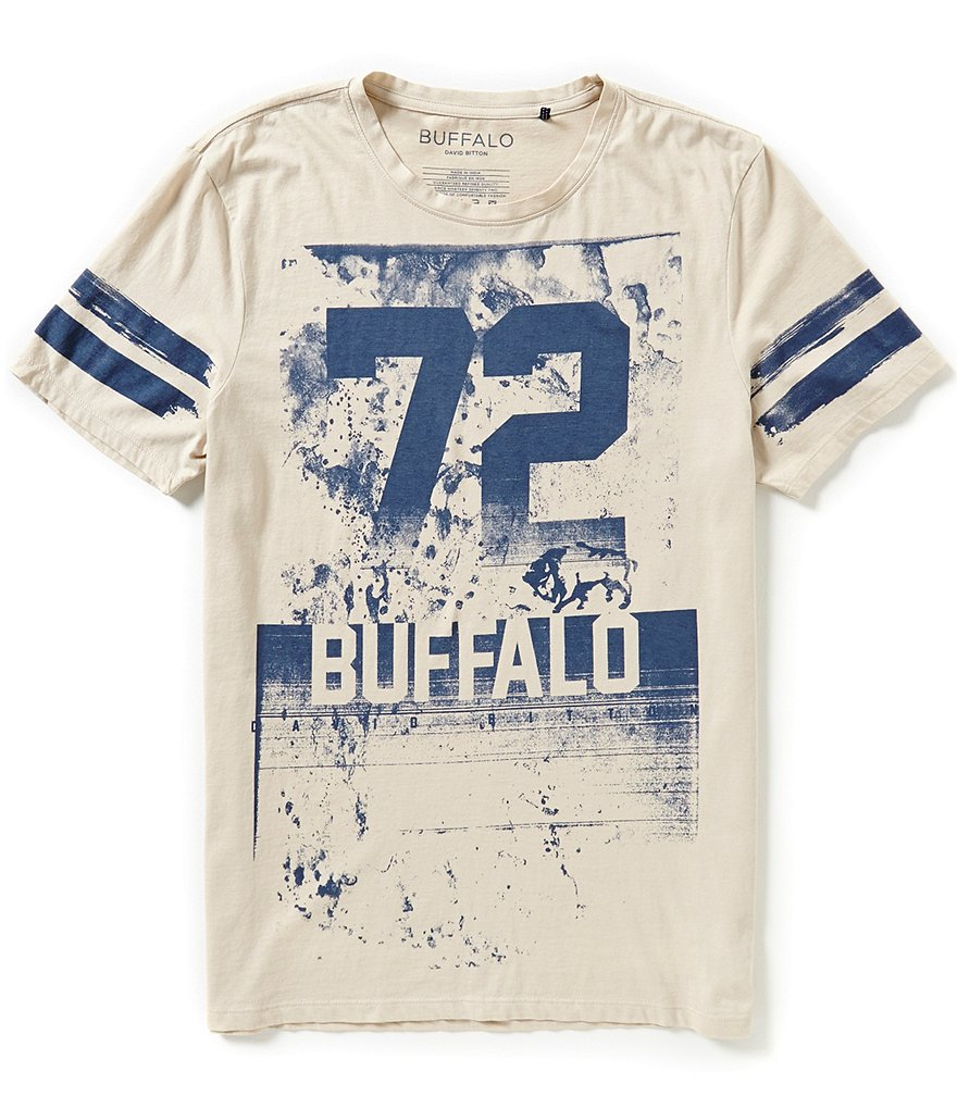 Buffalo David Bitton Nitrik Short-Sleeve Crewneck Graphic Tee