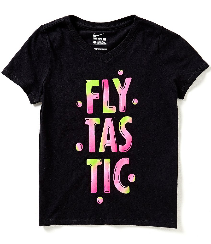 Nike Big Girls 7-16 Flytastic Short-Sleeve Graphic Tee