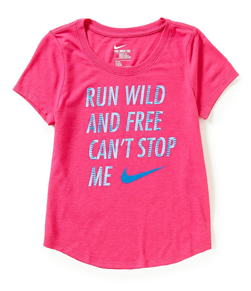 Nike Big Girls 7-16 Run Wild And Free Can't Stop Me Short-Sleeve Tee