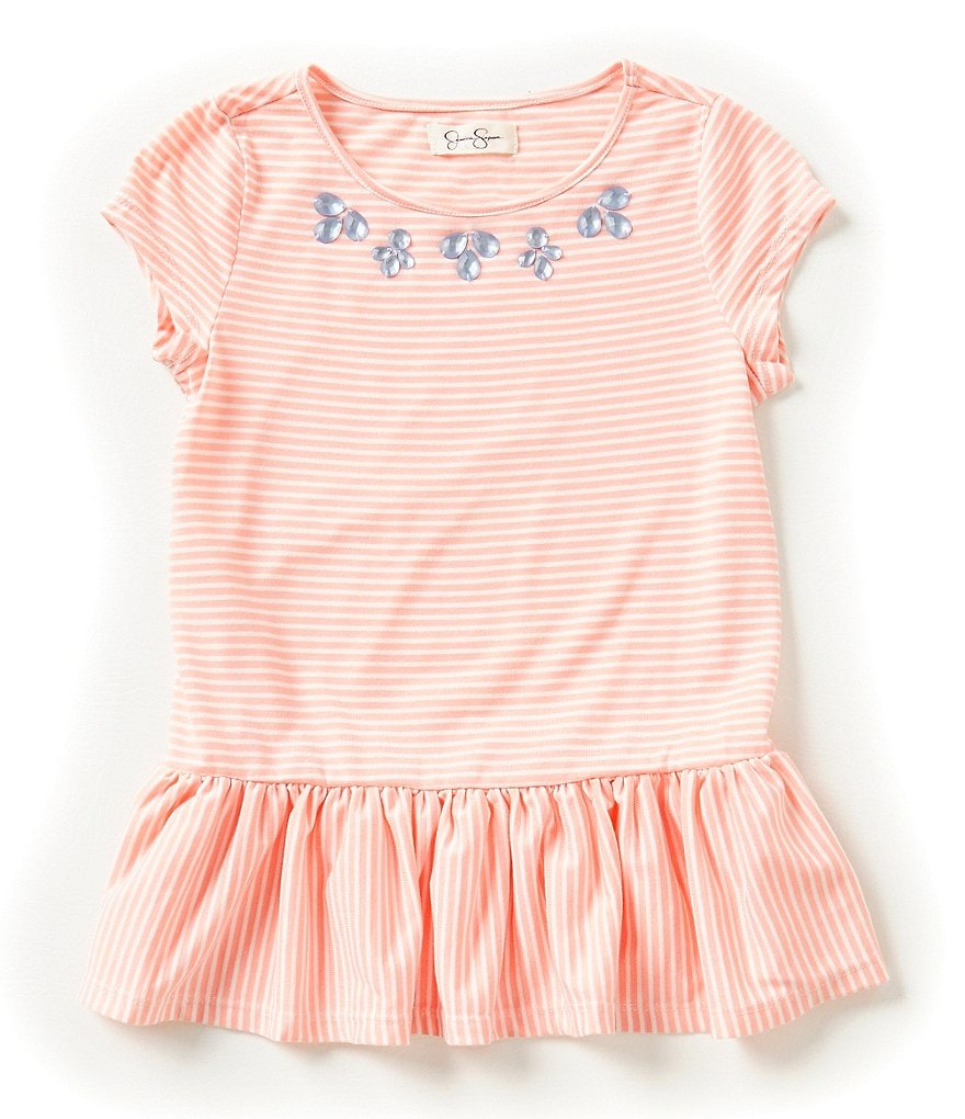 Jessica Simpson Little Girls 2T-6X Joaidy Striped Top