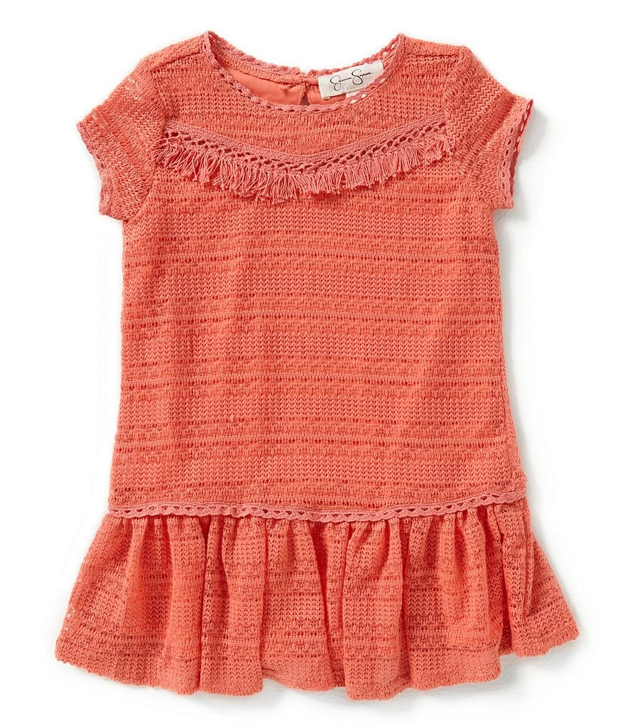 Jessica Simpson Little Girls 2T-6X Rima Fringed Dress