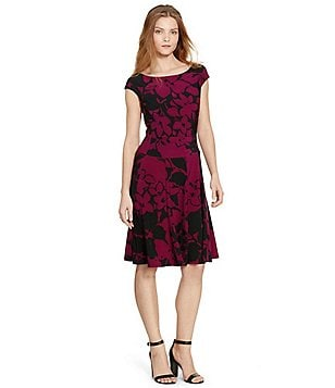 Lauren Ralph Lauren Floral Jersey Fit-and-Flare Dress