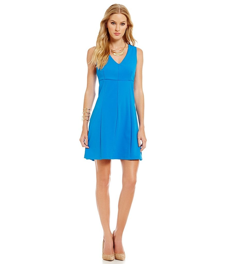 1. STATE V-Neck Fit-and-Flare Dress