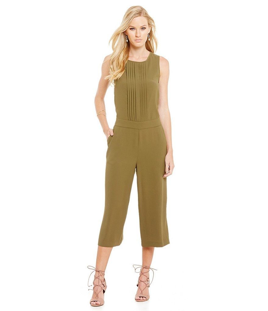 1. STATE Pleated Culotte Sleeveless Pocket Jumpsuit