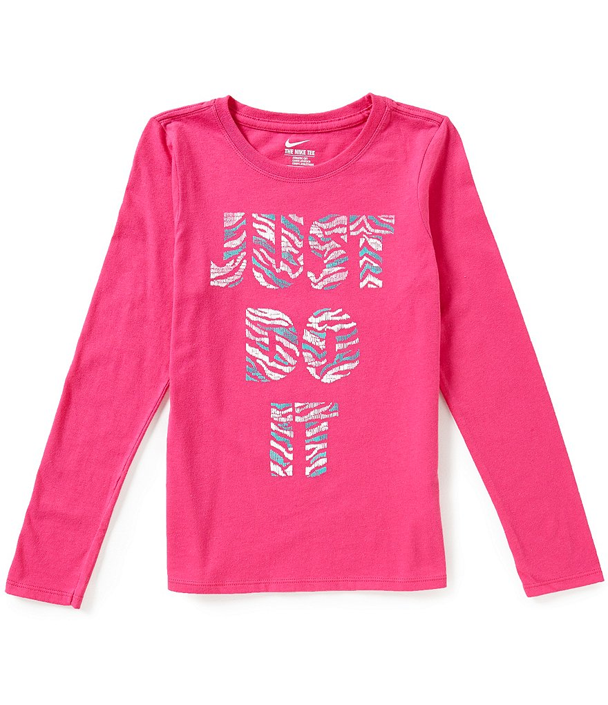 Nike Big Girls 7-16 Just Do It Graphic Long-Sleeve Tee