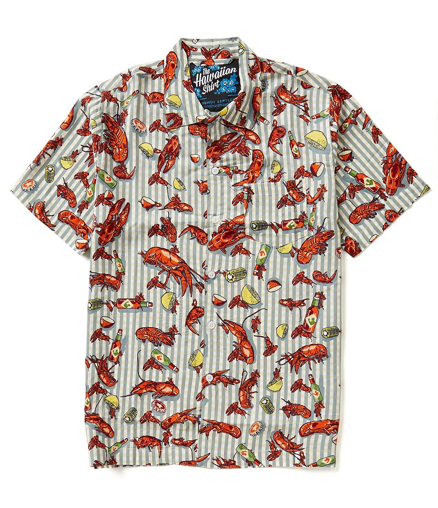Rowdy Gentleman Short-Sleeve Crawfish Boil Hawaiian Shirt