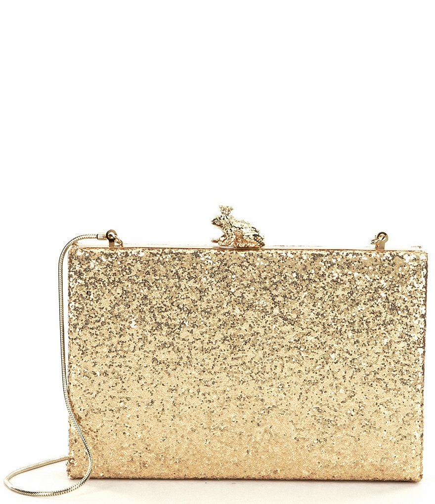 kate spade new york Wedding Belles Kissed A Frog Metallic Glitter Clutch