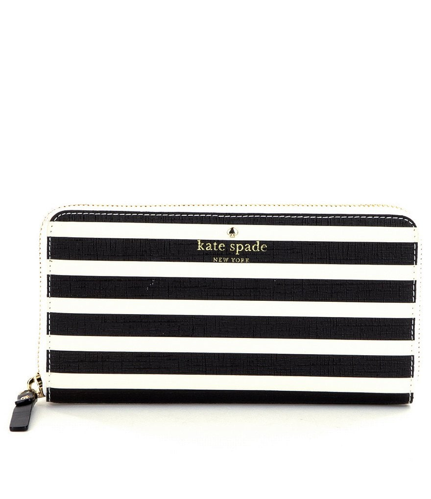 kate spade new york Fairmount Square Lacey Striped Zip-Around Wallet