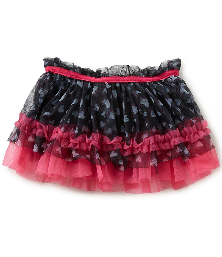 Baby Starters Baby Girls 3-12 Months Heart-Printed Tulle Tutu Skirt