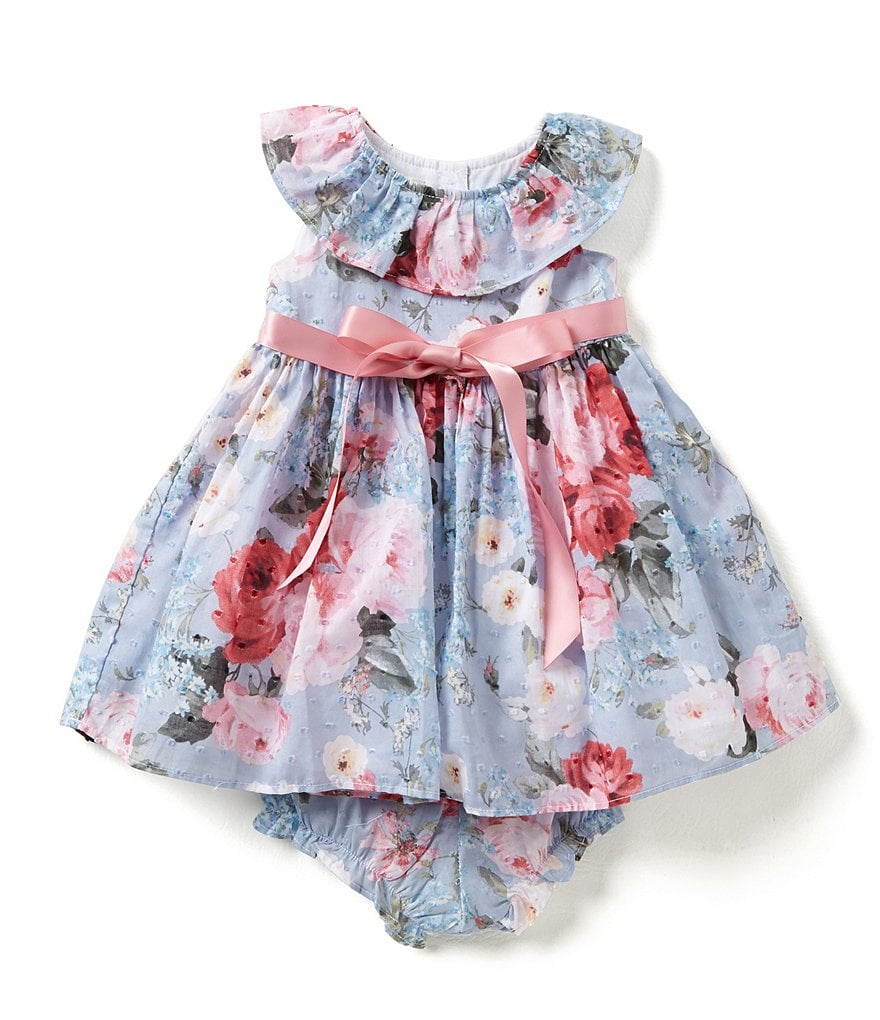 Laura Ashley London Baby Girls 12-24 Months Collared Floral-Print Dress