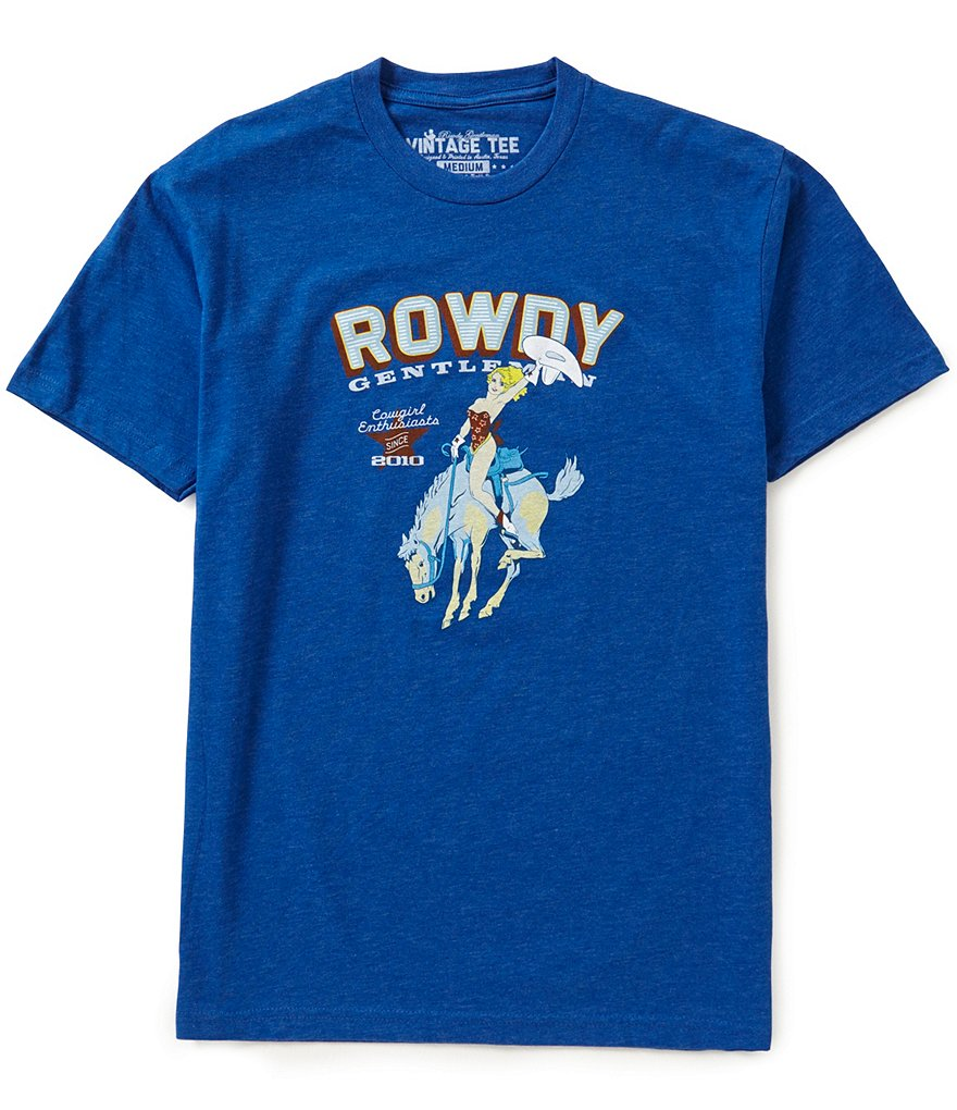 Rowdy Gentleman Cowgirl Enthusiasts Vintage Graphic Tee