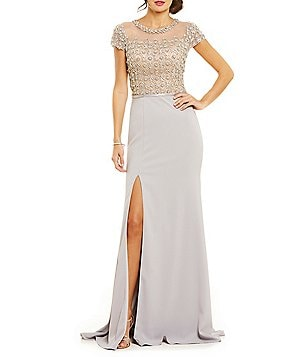 Terani Couture Beaded Bodice Gown