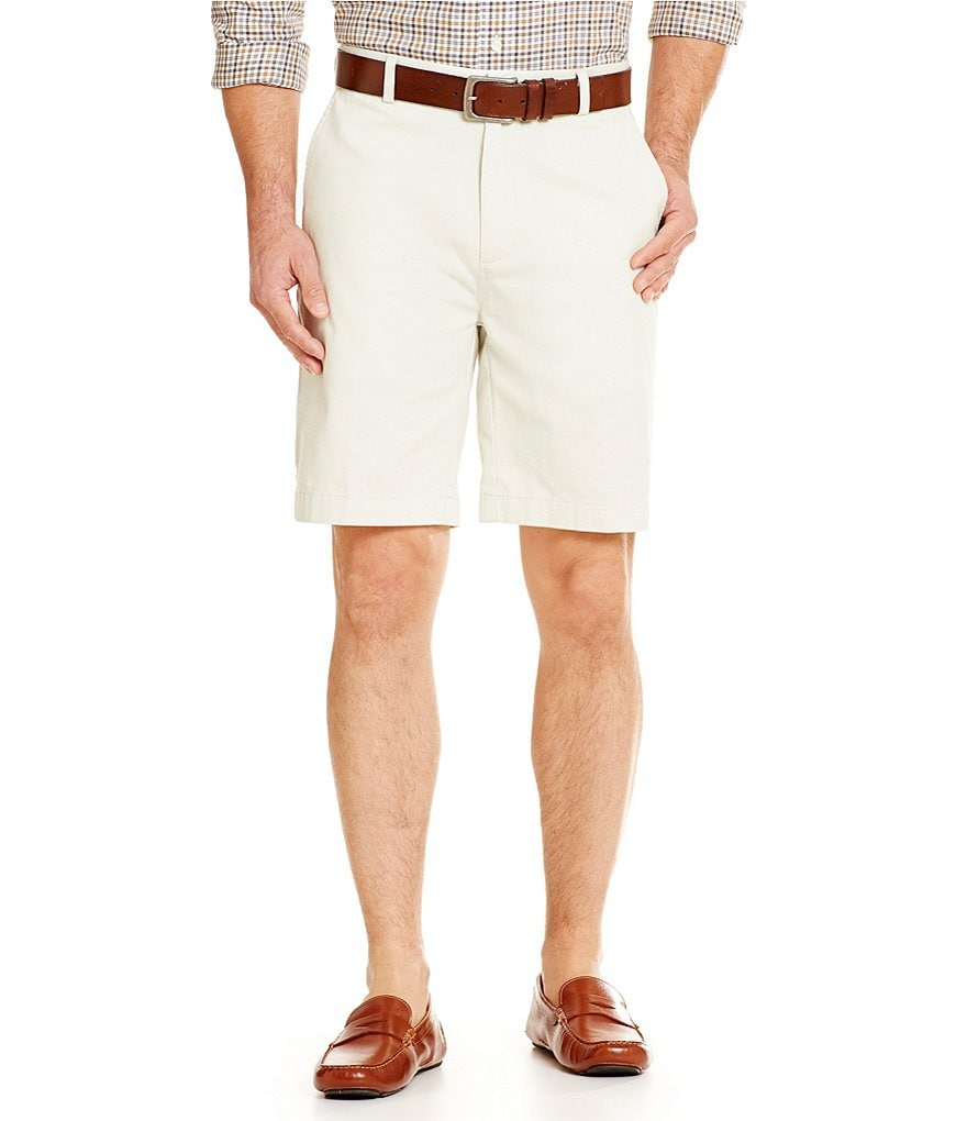 Roundtree & Yorke Big & Tall Flat-Front Cotton Shorts