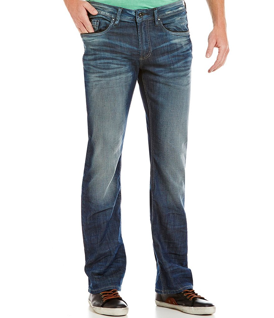 Buffalo David Bitton King X Slim-Fitting Bootcut Denim Jeans